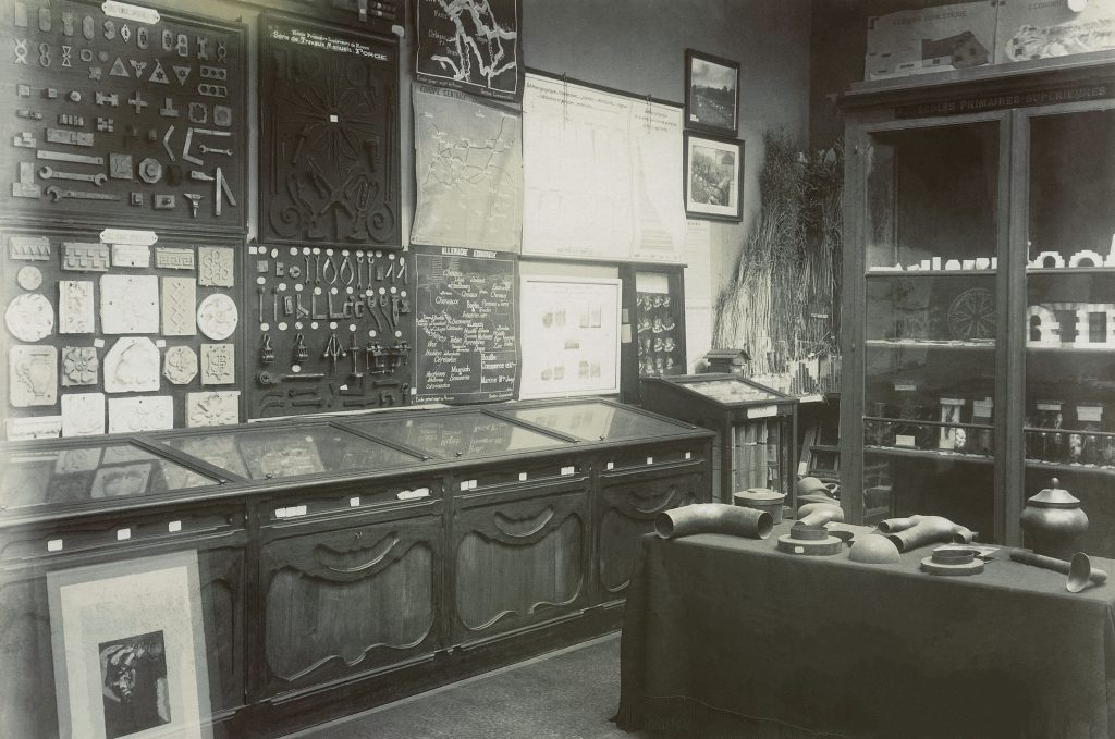 Salle du Musée pédagogique, rue Gay-Lussac avant son départ vers la rue d'Ulm, Paris. © Réseau Canopé/Munaé