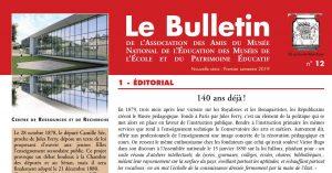 Bulletin de l'amnépe n°12