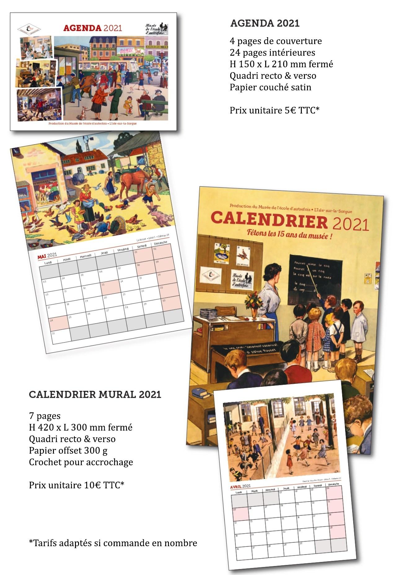 You are currently viewing Agendas et calendriers Rossignol du Musée de l'école d'autrefois – L'Isle sur la Sorgue