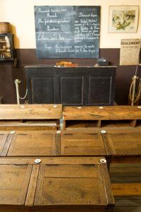 Salle de classe du Le musée de la Maison d'École à Montceau-les-Mines