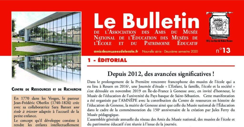 Read more about the article Bulletin de l'amnépe n°13