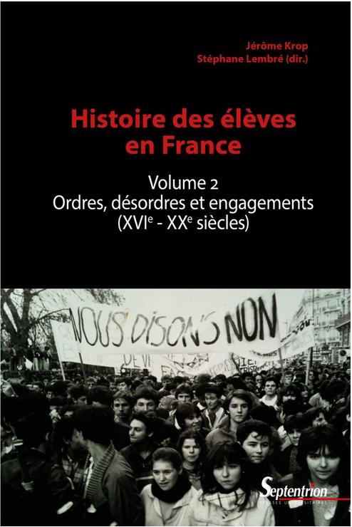 Histoire des élèves en France Volume 2 - Couverture