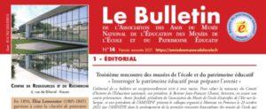 Read more about the article Troisième rencontre des musées de l'école et du patrimoine éducatif