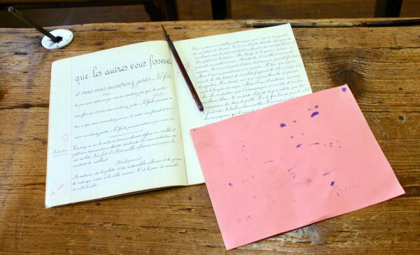 Musée de Laval - Page d'écriture