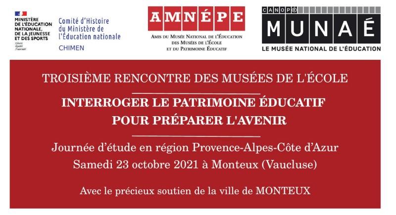 Read more about the article Fiche d'inscription – troisième rencontre des musées de l'école